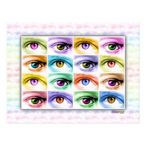 Postales - ojos del arte pop