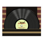Postales personalizadas disco de vinilo del jazz