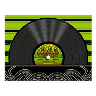 Postales personalizadas disco de vinilo del reggae