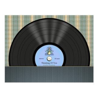 Postales personalizadas disco de vinilo del