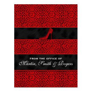 Postales personalizadas impresión roja del guepard