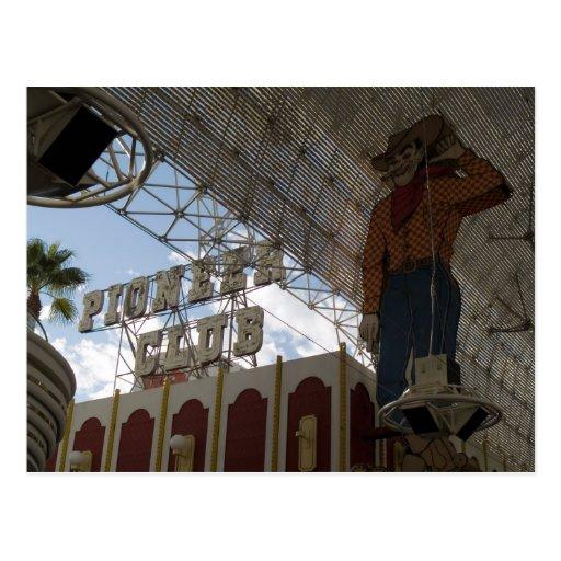 Postales pioneras de la foto de Las Vegas del club