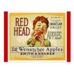 Postales principales rojas de las manzanas de Wash