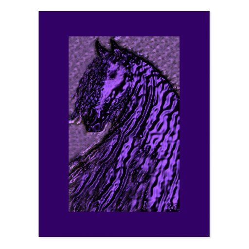 Postales púrpuras del caballo