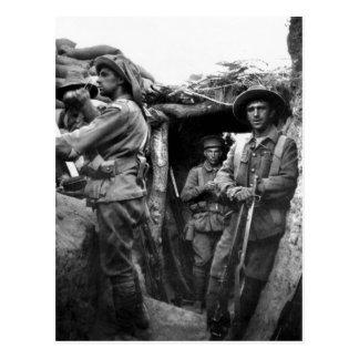 Postales que muestran los cavadores en Gallipoli