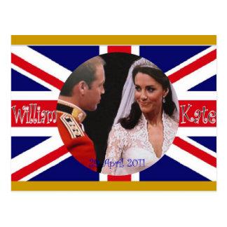 Postales reales del boda de Guillermo y de Kate