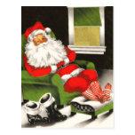 Postales retras del navidad de Santa