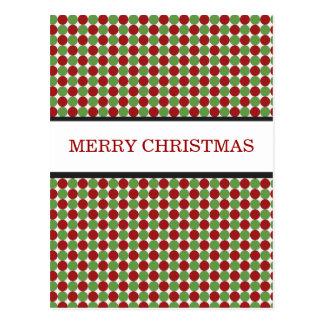 Postales rojas y verdes del navidad de los lunares