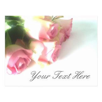 Postales rosadas de los rosas