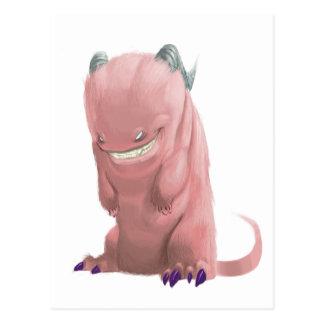Postales rosadas del monstruo del calcetín