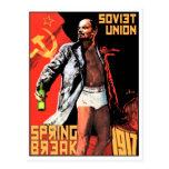 Postales soviéticas del viaje de las vacaciones de