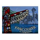 Postales tótem de Vancouver y tarjetas de las seña