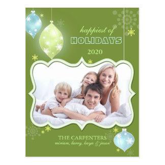 Postales verdes de la foto de familia de los días