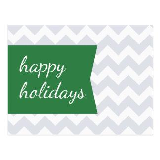 Postales verdes del día de fiesta de Chevron