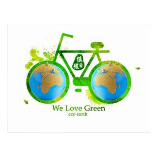 Postales verdes respetuosas del medio ambiente amb