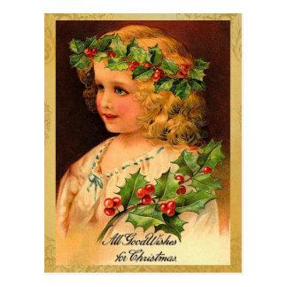 Postales viejas del día de fiesta del navidad de