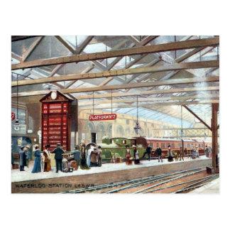 Postales viejas - estación de Waterloo, Londres
