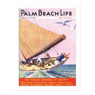 Postard de la vida 15 del Palm Beach Tarjeta Postal
