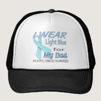 Postate Cancer Awareness Ribbon for Dad Trucker Hat