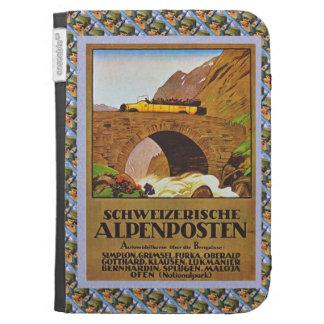 Postbus alpino del poster ferroviario suizo del vi