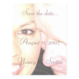 postcard5, Save the date...August 11, 2007Nancy... Postcard