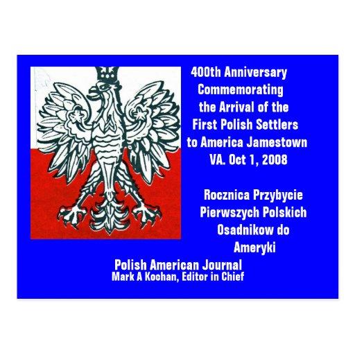 ..Postcard 400th Anniv. First Polish  - Customized