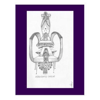 "Postcard - ""Abandoned Throne"""