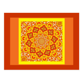 Postcard-Abstract/Misc-Orange Circle Tile Postcard