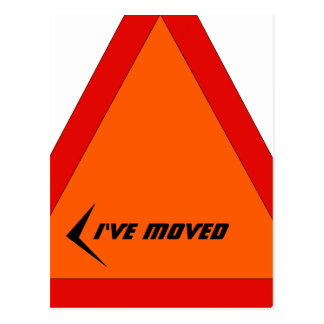 Postcard Abstract Moving Sign Moved New Address PC