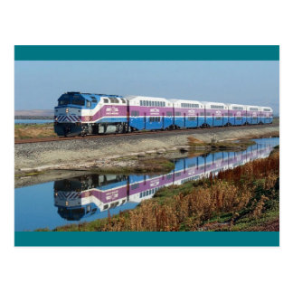 Postcard - ACE commuter train, California