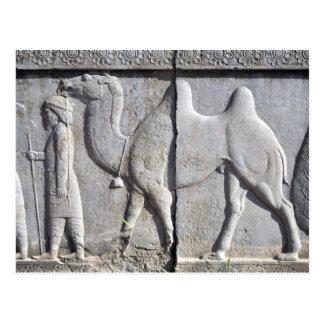 Postcard Achaemenid Era Fresco Persepolis, Iran