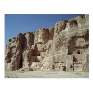 Postcard Achaemenid kings Tombs, Fars, Iran
