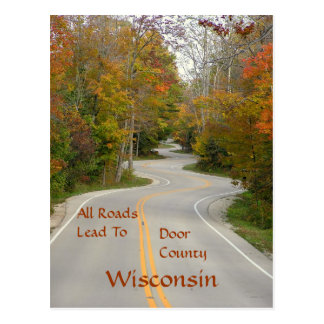 "postcard, ""All Roads Lead To Door County"" Postcard"