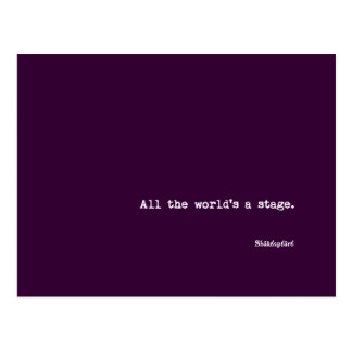 Postcard - All the world's a stage - Shakespeare