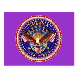 Postcard America Spirit Is Not Forgotten 50 Colors