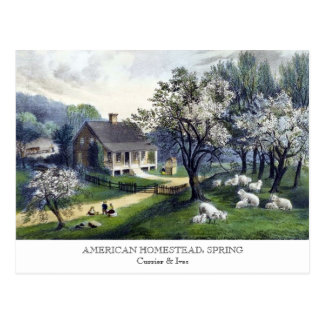 Postcard - AMERICAN HOMESTEAD: Spring
