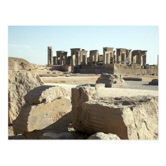Postcard Ancient Ruins in Persepolis, Iran