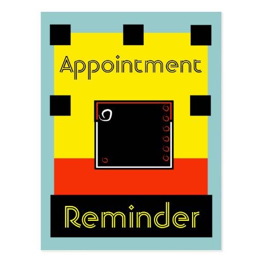 Postcard Appointment Reminder Change front & back
