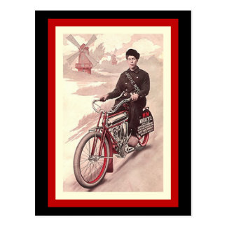 Postcard Around The World Tour M-M Motorcycle