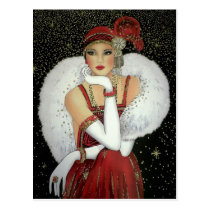 Postcard - Art Deco Christmas Poster