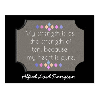 Postcard Art - My heart is pure -Tennyson quote