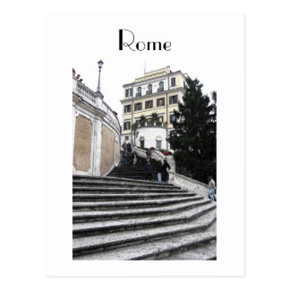 Postcard - At the Spanish Steps