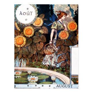 Postcard:  August/ Auot Postcard
