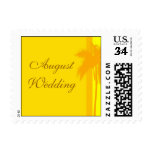 Postcard August Beach Wedding Postage Stamp