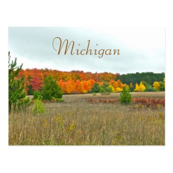"Postcard  ""autumn Comes To Michigan"" Postcard by whatawonderfulworld at Zazzle"