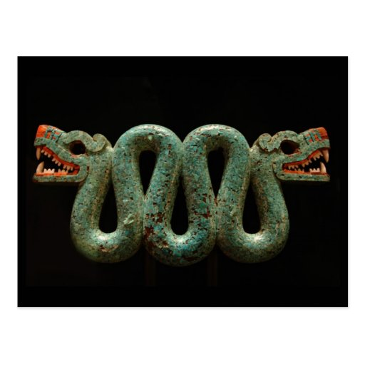 Postcard: Aztec serpent