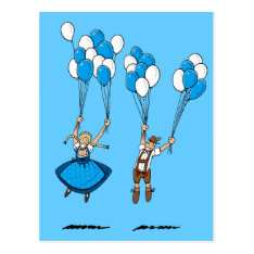 Postcard Balloons Oktoberfest Couple at Zazzle