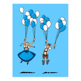 Postcard Balloons Oktoberfest Couple