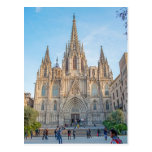 Postcard Barcelona Cathedral, Spain