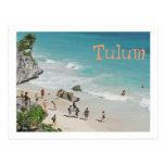 Postcard, Beach Beneath Mayan Ruins In Tulum Postcard at Zazzle